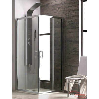 CABINA DUS NEW FLORA 100, SQUARE, 90X90X180, CLEAR TRANSPARENT