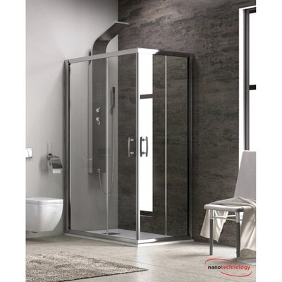 CABINA DUS NEW FLORA 100, RECTANGLE, 70X140X180, CLEAR TRANSPARENT