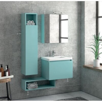 MOBILIER BAIE SPACE 60 MIRROR LACCATO
